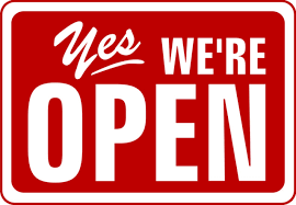 Yes. We`re OPEN for Business